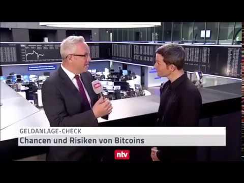 Investieren in Bitcoin - Chancen und Risiken - Ausschnitt Interview NTV