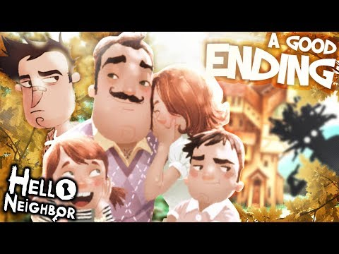The REAL Neighbor FAMILY & A GOOD ENDING !! | Hello Neighbor [Act 3 End] Secrets And Easter Eggs