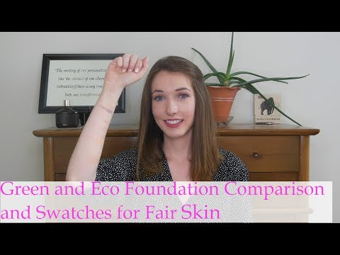 Green and Eco Foundation Comparison and Swatches for Fair Skin