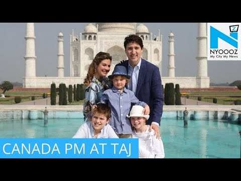 Canadian PM visits the Taj Mahal with wife and children
