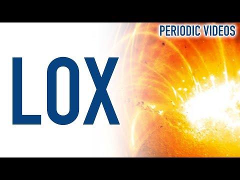 Burning Iron in Liquid Oxygen - Periodic Table of Videos