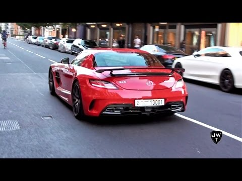 Supercars In London (Part 24) - SLS AMG Black Series, Purple AMG GT S & More!