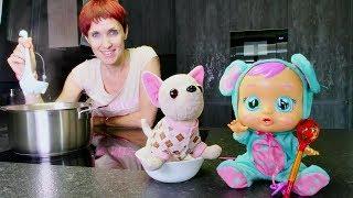 Чечевичный суп для куклы - Маша Капуки и Кукла Пупсик