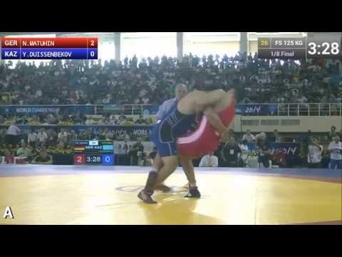 Freestyle Wrestling 125 kg - N.MATUHIN (GER) vs Y.DUISSENBEKOV (KAZ) - Tashkent World Championship