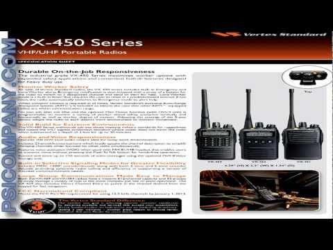 Vertex Standard VX-451 / VX-454 / VX-459 Portable Radio: An Overview