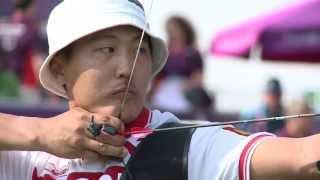 Archery   Tuchinov Russia v Bennett USA   Mens  nd. Rec. Standing Semifinal   London 2012