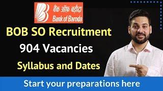 BOB SO Recruitment - Syllabus and Study Material