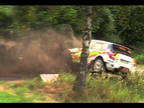 ADAC Rallye Deutschland 2016 Hard CRASH Neuville Y. Skoda Fabia S2000