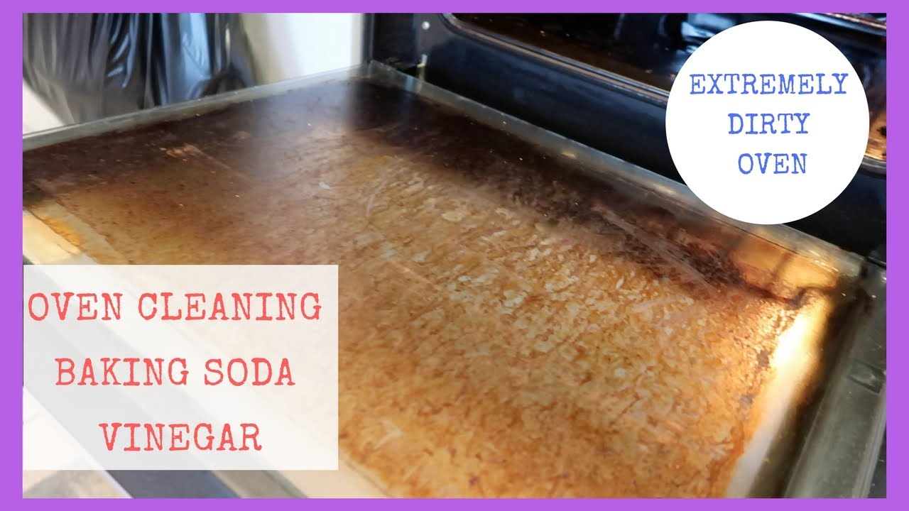 How To Clean An Oven With Baking Soda Vinegar Extremely Dirty