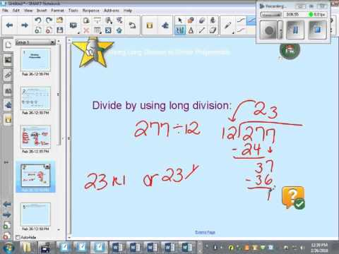long division notes video