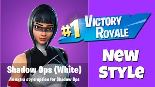 Fortnite: The NEW Shadow Ops (WHITE) Skin Style *VICTORY ROYALE*