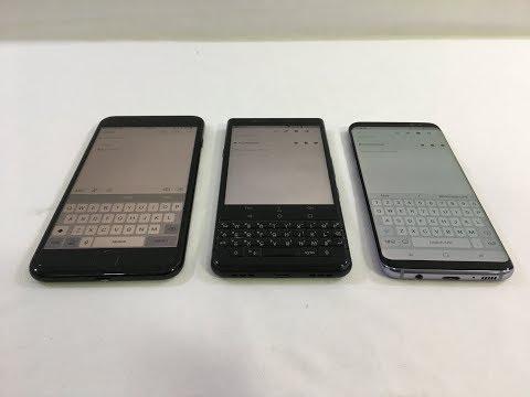 Keyboard TYPING TEST - Blackberry KeyONE vs. Galaxy S8 vs. iPhone 7 Plus