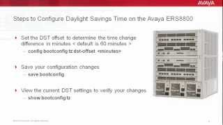 How to Configure Daylight Savings Time on the Avaya ERS8800