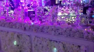 Bridal train table and VIP. Tables at Ruby gardens lekki Lagos Nigeria