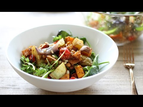 Roast Vegetable Salad Recipe with Maple Balsamic Dressing
