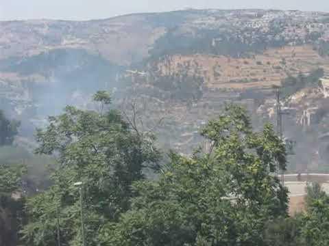 ירושלים: לוחמי אש פעלו בשריפת ענק בוואדי ליפתא