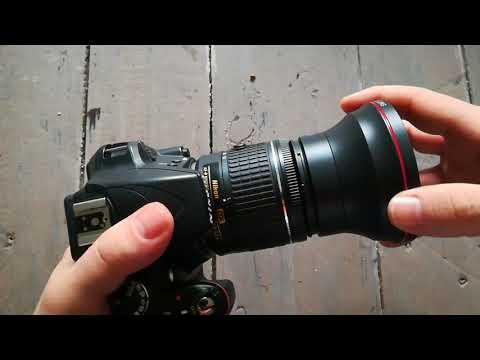 UNBOXING & TEST Neewer 55mm 0 43x Professional HD Wide Angle Lens With Macro