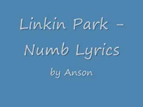 Linkin Park-Numb Lyrics