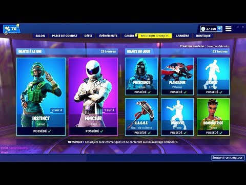 BOUTIQUE FORTNITE du 4 Mars 2019 ! ITEM SHOP March 4 2019 !