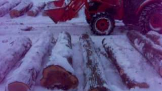 Farmer Browns Stump Video on the landing selling logs