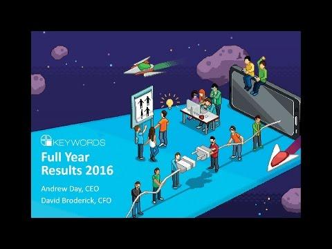 Keywords Studios (KWS) FY Results Presentation December 2016
