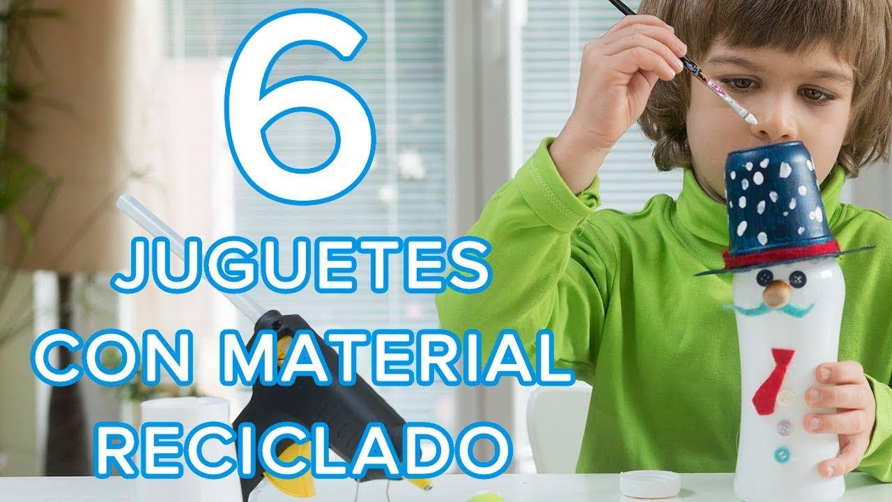 6 manualidades para hacer en casa juguetes con materiales reciclados para ni os youtube Manualidades con materiales de casa