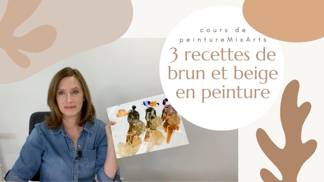 Comment faire du brun et du beige en peinture - 3 recettes pour mélanger des bruns et des beiges