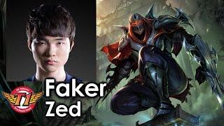 Faker picks Zed