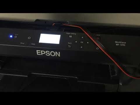 Epson Workforce WF-7210 Series - Nozzle Check and Print Head Cleaning Via LCD How-To