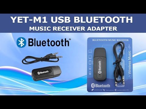 YET-M1 USB Bluetooth Music Receiver Adapter (Unboxing & Review)