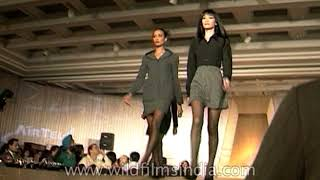 Indian models Bikram Saluja, Dino Morea and Priyanshu Chatterjee walk at Ravi Bajaj Fashion Show