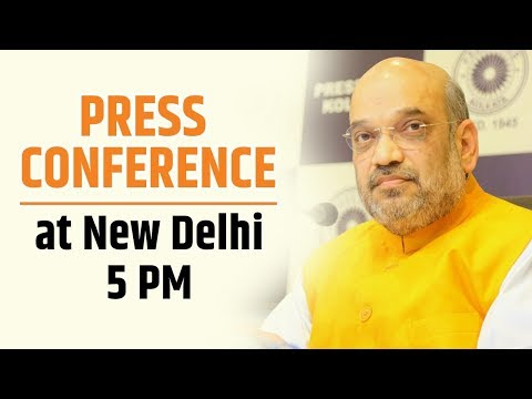 Press Conference by Shri Amit Shah at BJP Central Office, New Delhi : 22.05.2018