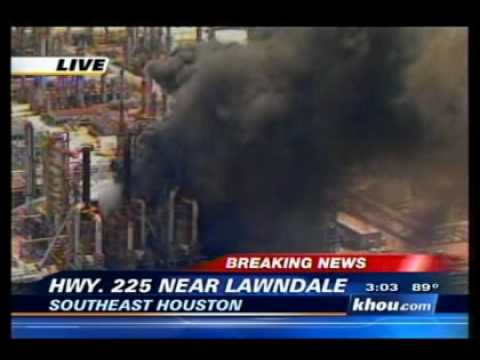 Breaking News - Explosion at Lyondell plant in SW Houston