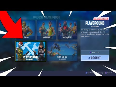 FORTNITE PLAYGROUND MODE LIVE GAMEPLAY! FORTNITE PLAYGROUND LTM IS FINALLY HERE NEW MODE COMING SOON
