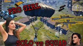 SOLO VS SQUAD 🔥 | PUBG MOBILE | AGRESSIVE GIRL