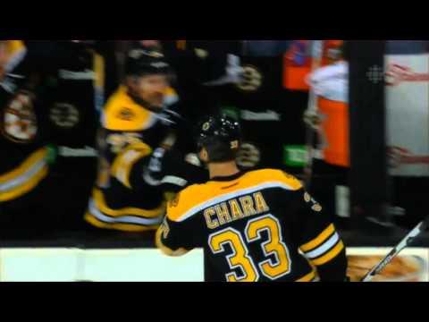 Zdeno Chara Slap Shot Goal vs Toronto
