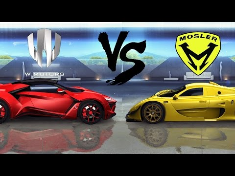 Asphalt 8: Fenyr Supersport vs Mosler Super GT