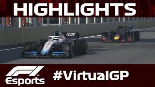 Virtual Azerbaijan Grand Prix Highlights | Aramco