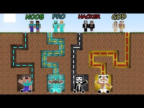 Minecraft Battle: NOOB vs PRO vs HACKER vs GOD - FAMILY MAZE GO TO BABY Challenge! Animation!