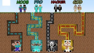 Minecraft Battle: NOOB vs PRO vs HACKER vs GOD - FAMILY MAZE GO TO BABY Challenge! Animation!