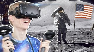 THE MOON LANDING IN VIRTUAL REALITY!  | Buzz Aldrin: Cycling Pathways to Mars VR (HTC Vive Gameplay)