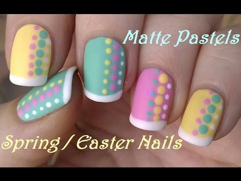 matte nail art spring & easter