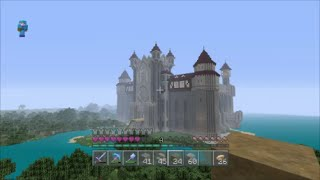 EP13 Minecraft heavenandearth Medieval Castle Roof Design PS4