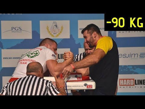 World Arm Wrestling Championship 2018 (Senior Men 90 kg Right hand Qualification)