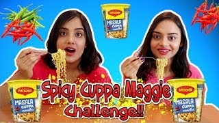 SPICY MAGGI CHALLENGE | Maggi Cuppa Noodles Challenge |  Spicy Food Challenge | Life Shots