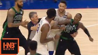 Joel Embiid & Terry Rozier Skirmish / Celtics vs Sixers Game 4