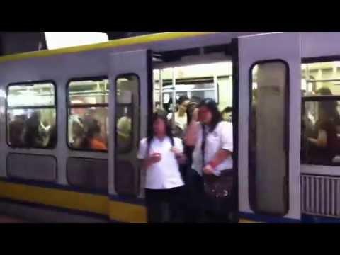 LRT 1 EDSA @ Manila MRT, Philippines