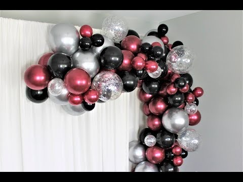 Burgundy Balloon Garland Kit Review DIY | Tutorial | Shimmer and Confetti
