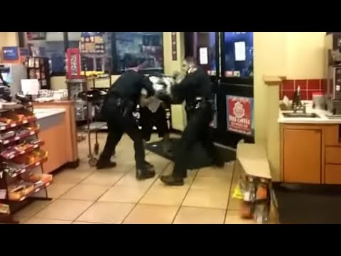 "Man on Drugs Resists Being Taken Out of Store by Police and says ""Let's Go, Let's F***ing Play Now"" before swinging on Officer"