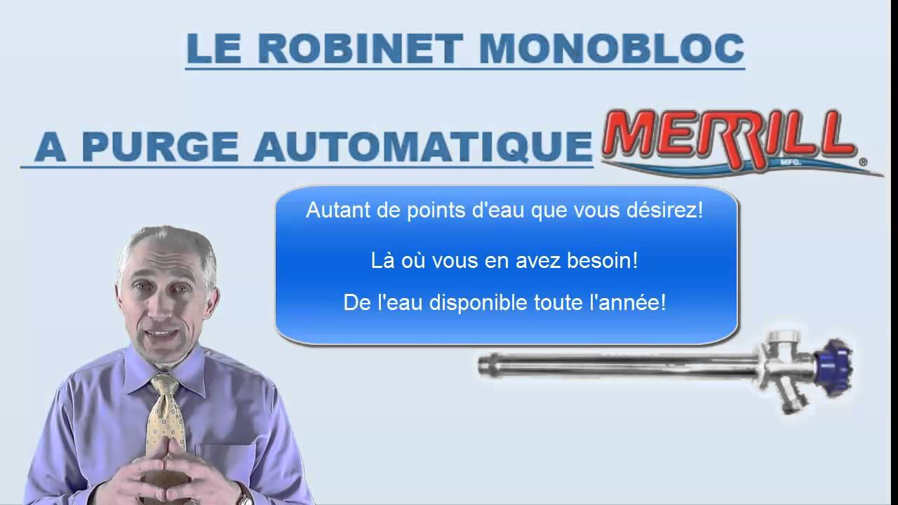 Le robinet mural ext rieur antigel merrill youtube for Robinet exterieur mural